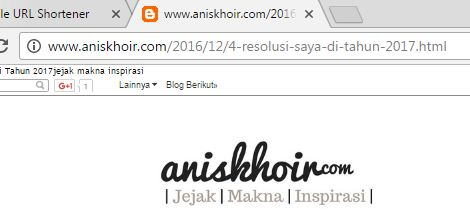 membuat shortlink blog
