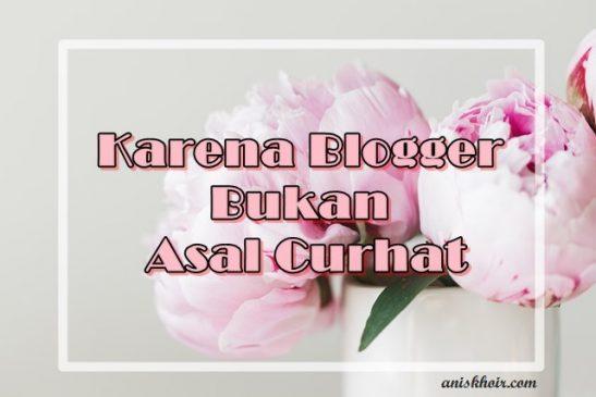 Karena Blogger Bukan Asal Curhat