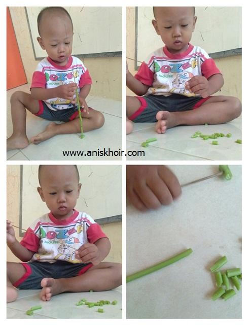 sensory play meronce bahan alam