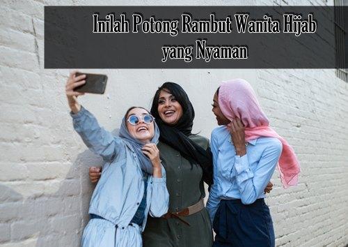 potong rambut wanita hijab