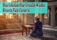 doa sebelum dan sesudah wudhu